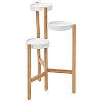 IKEA, SATSUMAS, Пьедестал для цветов, бамбук, белый, 78 см (402.581.54)(S40258154) САТСУМАС ИКЕА