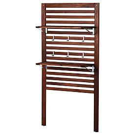 IKEA, APPLARO, Настенная панель +2 полки, коричневый коричневая морилка, 80x30x158 см (498.989.68)(49898968) АППЛАРО АПЛАРО ИКЕА