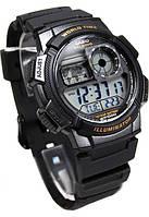Стильные часы CASIO AE-1000W, 10Bar,  5 будильников