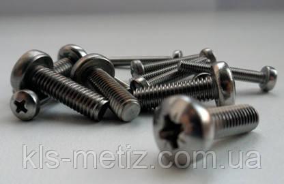 Винт с  цилиндрической головкой М 4х16 DIN 7985 нержавеющая сталь А2, фото 2