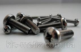 Гвинт з циліндричною голівкою М 4х12 DIN 7985 нержавіюча сталь А2