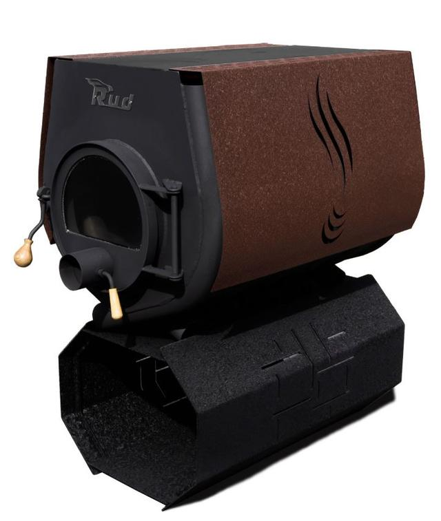 Печь-булерьян Rud Pyrotron Кантри 03 с варочной поверхностью + стекло (коричневый)