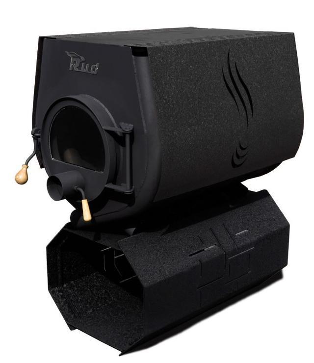 Печь-булерьян Rud Pyrotron Кантри 03 с варочной поверхностью + стекло (черный)
