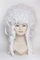 Парик королевы, цвет снежно-белый