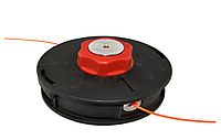 Шпуля, красный мет.фиксатор, маленькая.  Внешний диаметр 109мм. Левая резьба. Диаметр отверстия под леску 4.5м