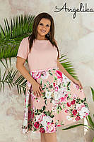 Женское летнее платье №500 (р.48-54) розовый, фото 1