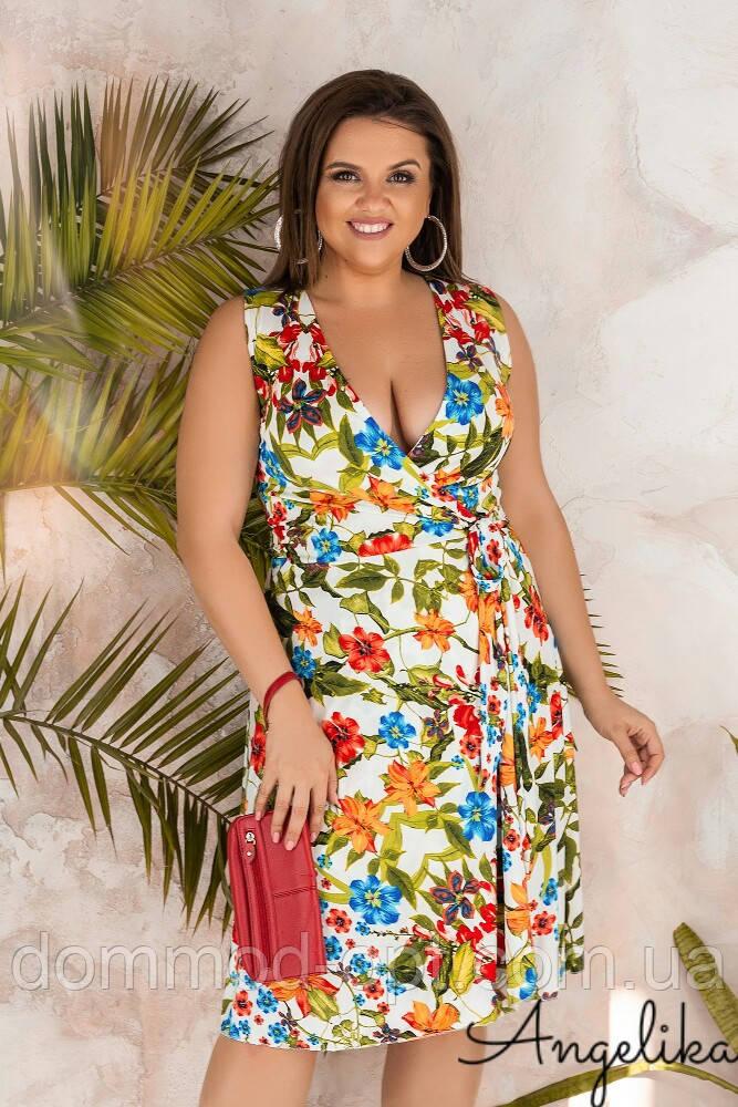 Женское летнее платье №458-2 (р.46-54)
