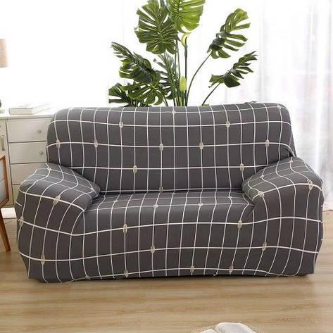 Чехол на кресло/полуторный диван натяжной 90-145см, фото 2