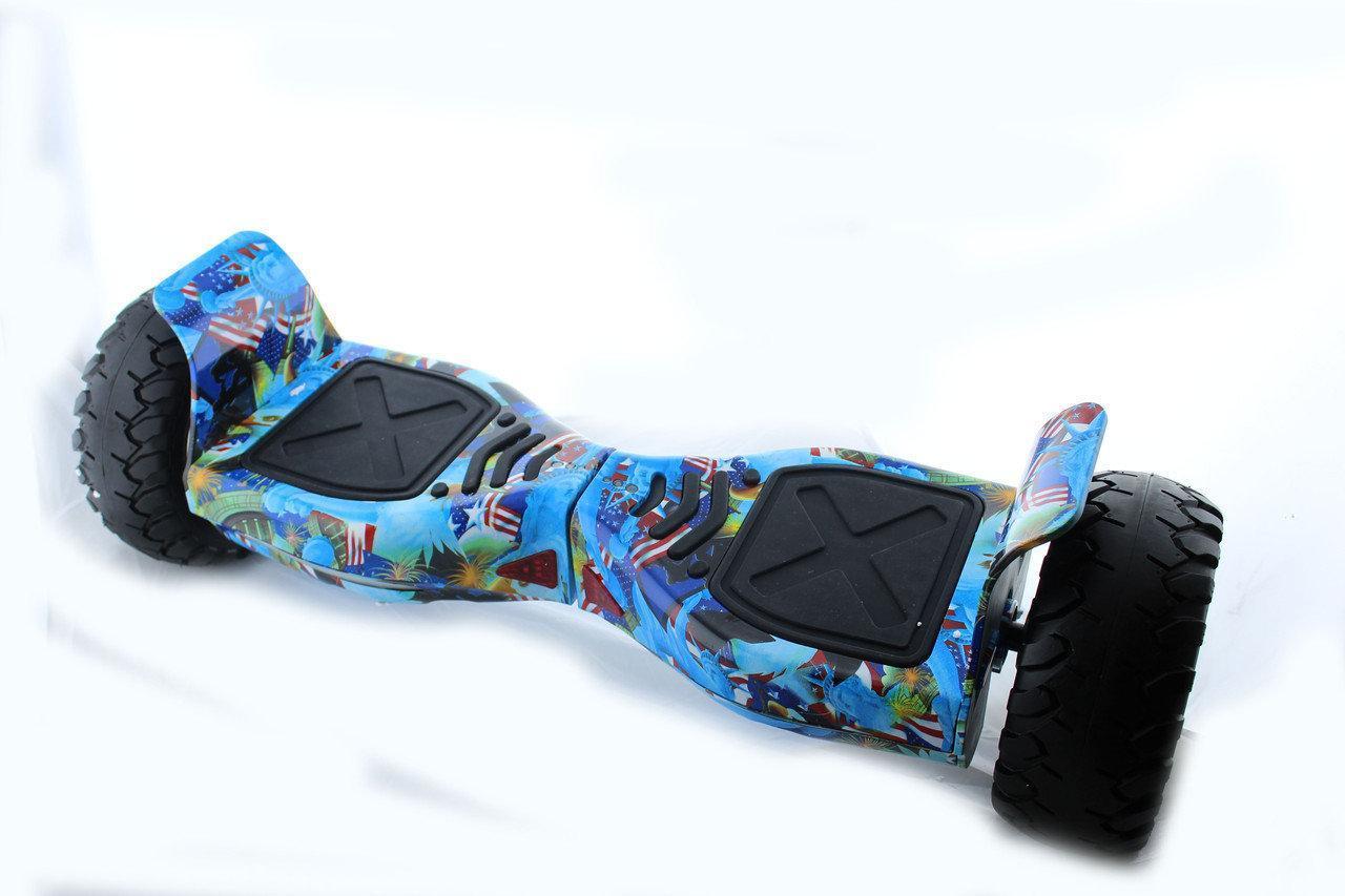"""Гироборд смартвей 8.5"""" HM №9 Американский и орел на синем фоне встроенный bluetooth  приложений Автобаланс"""