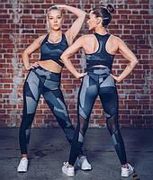 Женские леггинсы для фитнеса с принтом Графика S, M, L