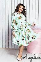 Женское летнее платье №484 (р.42-52) мята, фото 1