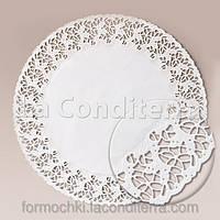 Белые ажурные салфетки, d=36 см (250 шт.)