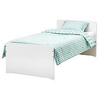 IKEA, SLAKT, Каркас кровати с реечным дном, белый, 90x200 см (792.277.55)(79227755) СЛАКТ ИКЕА
