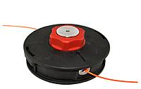 Шпуля, красный мет.фиксатор, большая. Внешний диаметр 131мм. Левая резьба. Диаметр отверстия под леску 4.5мм