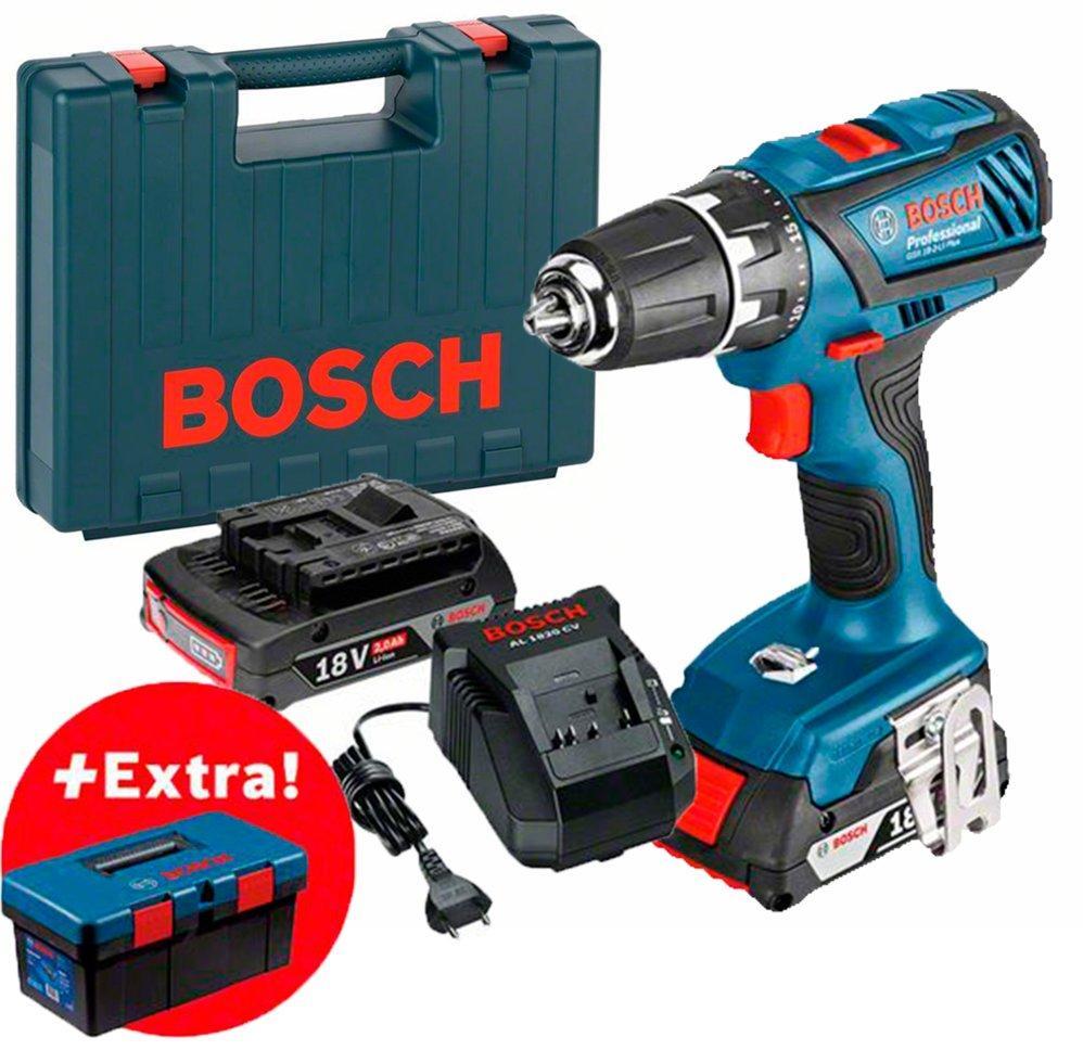 Аккумуляторная дрель-шуруповерт Bosch GSR 18-2-LI Plus + 2 акб + зу + чемодан + PRO (0615990L29)