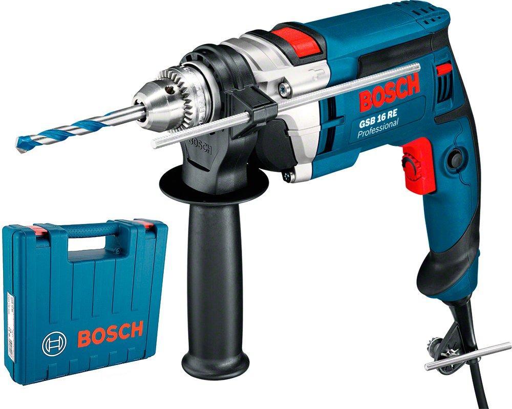 Дрель ударная Bosch GSB 16 RE ЗВП + чемодан (060114E600)