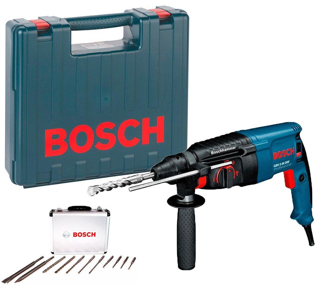 Перфоратор Bosch GBH 2-26 DRE + чемодан + набор 11 буров (0615990L43)