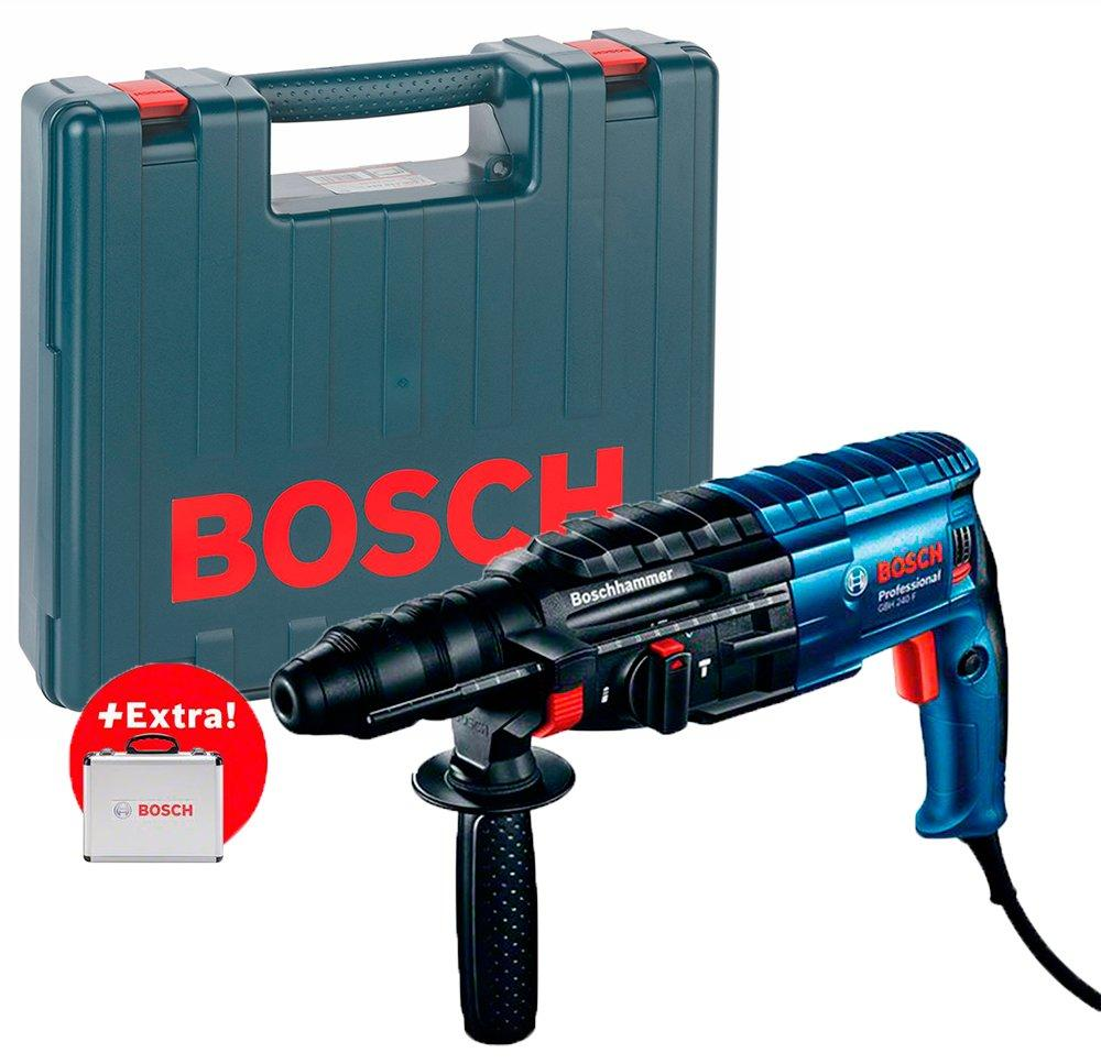 Перфоратор Bosch GBH 240 F + чемодан + набор 11 буров (0615990L2S)
