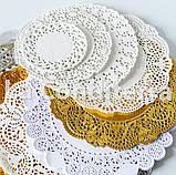 Ажурные салфетки, белые, d=32 см (250 шт.), фото 4