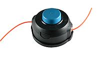 Шпуля Хускварна, синий фиксатор. Внешний диаметр 108мм. Левая резьба. Диаметр отверстия под леску 4.5мм