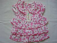 Платье нарядное ,в цветочек розовое. Размер 1,2 года.