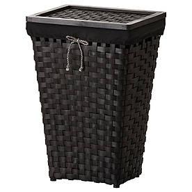 IKEA, KNARRA, Корзина для белья с подкладкой, черный, коричневый (502.428.41)(S50242841) КНАРРА КНАРА ИКЕА