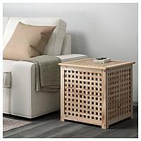 IKEA, HOL, Придиванный столик, акация, 50x50 см (701.613.20)(70161320) ХОЛ ИКЕА