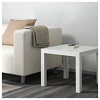 IKEA, LACK, Придиванный столик, глянцевый белый, 55x55 см (601.937.36)(60193736) ЛАК ИКЕА
