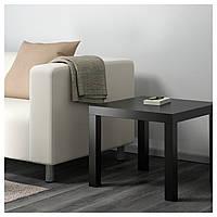 IKEA, LACK, Придиванный столик, черный, 55x55 см (200.114.08)(20011408) ЛАК ИКЕА