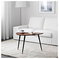 IKEA, LOVBACKEN, Придиванный столик, классический коричневый, 77x39 см (802.701.25)(80270125) ЛОВБАКЕН ИКЕА