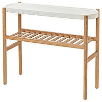 IKEA, SATSUMAS, Пьедестал для цветов, бамбук, белый, 70 см (902.581.56)(90258156) САТСУМАС ИКЕА