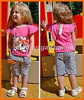 Летние костюмы для девочек | Розовый костюм для девочки Хелоо Китти