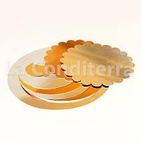 Подложка для торта двухсторонняя d=220 мм, подложки для тортов в ассортименте