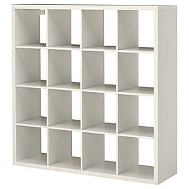 IKEA, KALLAX, Стеллаж, белый, 147x147 см (302.758.61)(30275861) КАЛЛАКС КАЛАКС ИКЕА