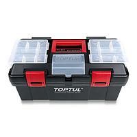 Ящик для инструмента  3 секции (пластик) 445x240x205мм  TOPTUL TBAE0302