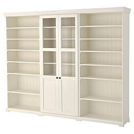 IKEA, LIATORP, Комбинация для хранения, белый, 276x214 см (990.464.43)(S99046443) ЛИАТОРП ИКЕА