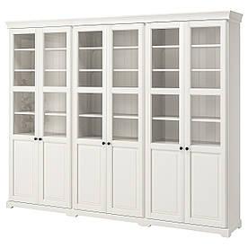 IKEA, LIATORP, Комбинация для хранения с дверцами, белый, 276x214 см (190.464.42)(S19046442) ЛИАТОРП ИКЕА