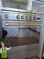 Плита  газовая  полупрофессиональная 60 см, нержавейка, фото 1