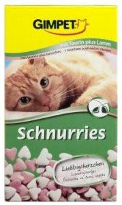 Витамины для котов и кошек Gimcat Schnurries сердечки с ягненком, 650 шт