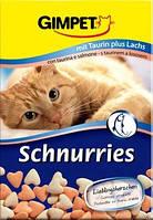 Витамины для котов и кошек Gimpet Schnurries сердечки с лососем с таурином, 40 г