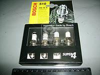 Свеча зажигания BOSCH FR78Х ВАЗ 2110-11-12 Super-4 (4 шт. блистер) (пр-во Германия)