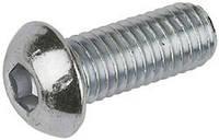 Винт с полукруглой головкой М 4х8 DIN ISO 7380-1  нержавеющая сталь А2