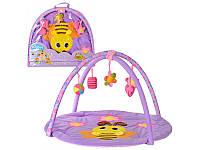 Коврик для младенца TONGDE T203-D1186 пчелка, круглый, 87см, дуги 2шт, подвес плюш 5шт