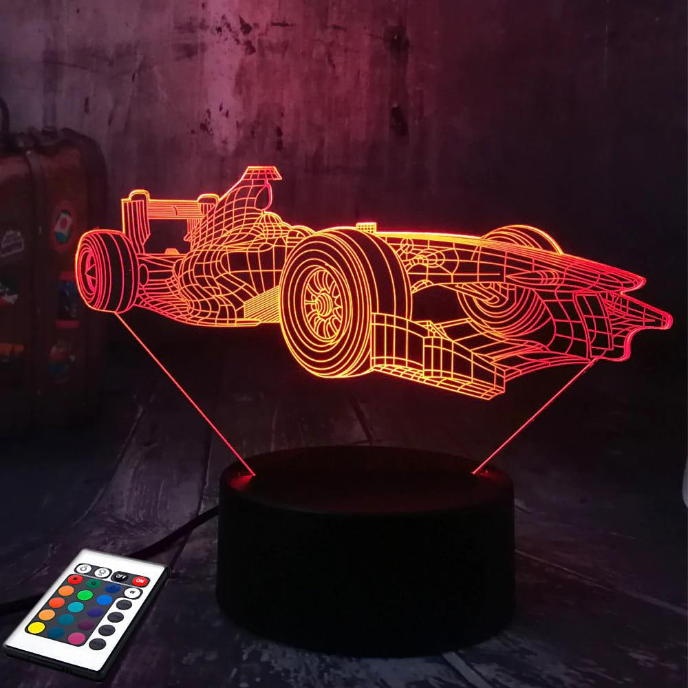 3D светильник с пультом 3D Lamp Формула 1 (LP-2552)