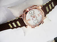 Женские кварцевые наручные часы Gucci на силиконовом ремешке, Brown