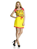 Яркое шифоновое платье. Модель Жучок.