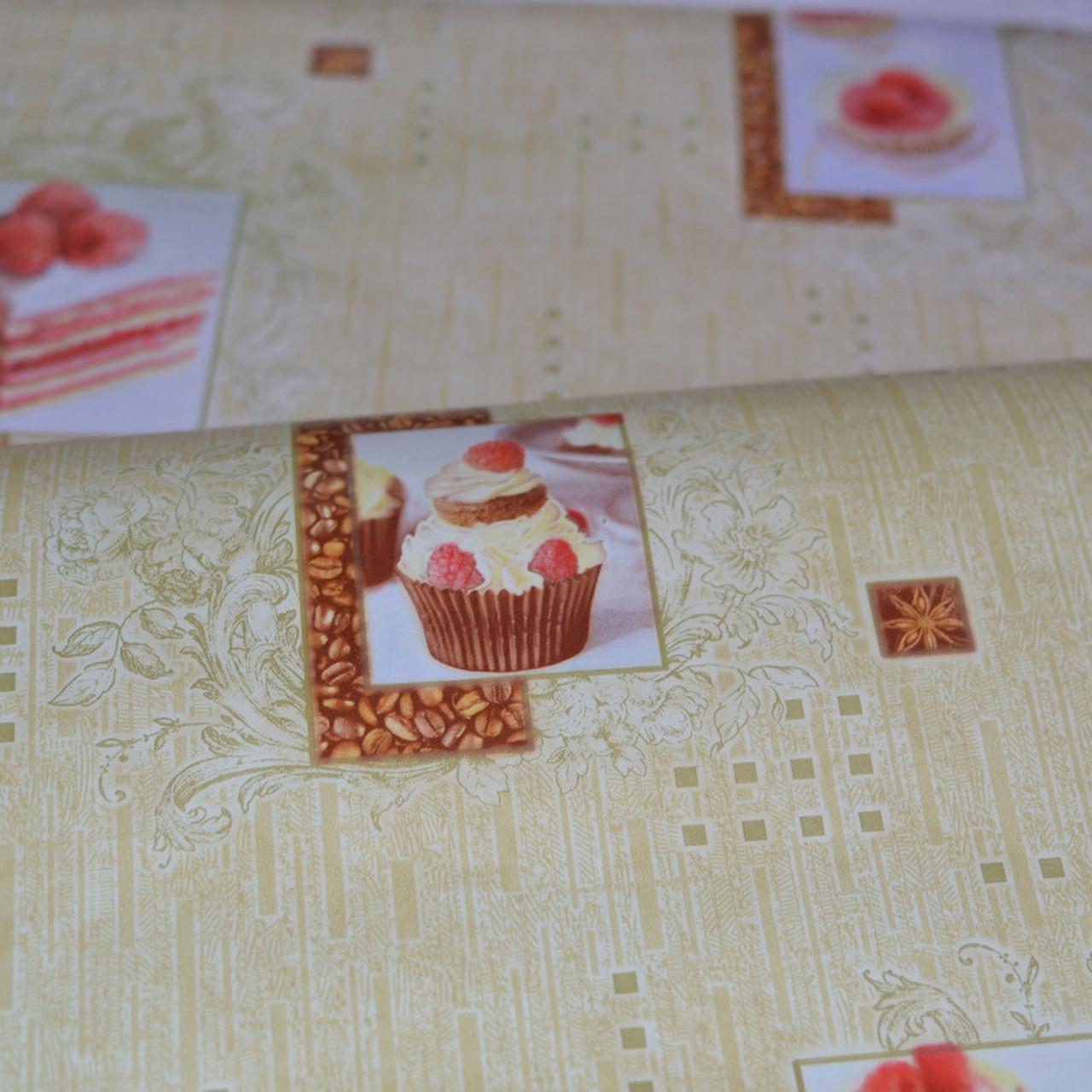 Обои, обои на стену, бумажные влагостойкие, торт, бисквит, капкейк, B56,4 Бисквит 8036-05Х, 0,53*10м