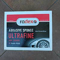 Скотч-брайт абразивная губка Radex (ультратонкая)  Р400-500