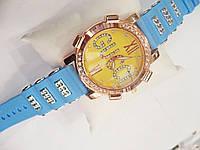 Женские кварцевые наручные часы Gucci на силиконовом ремешке, Blue, фото 1