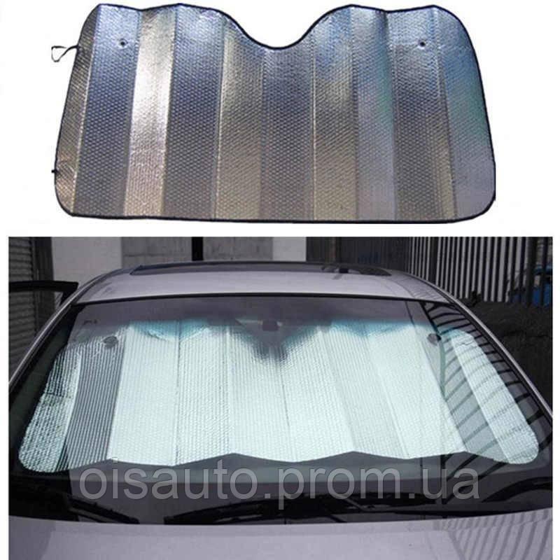 Солнцезащитная автомобильная шторка на лобовое стекло 130*60 см